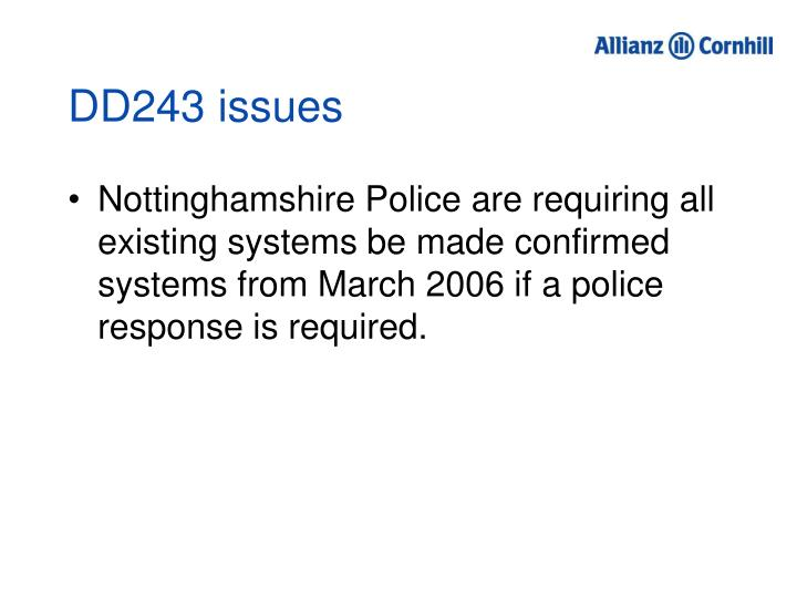 DD243 issues