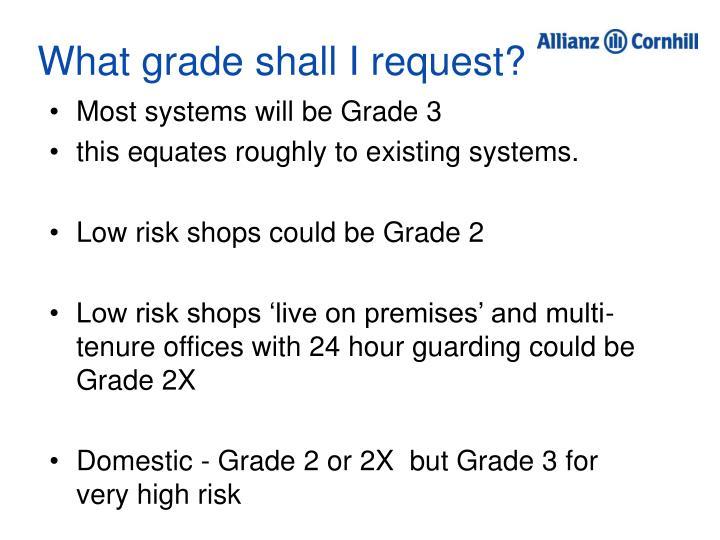 What grade shall I request?