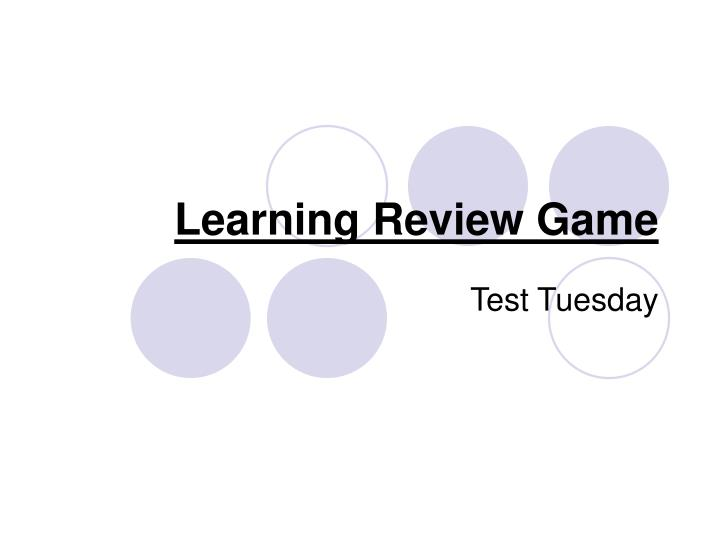 Learning review game
