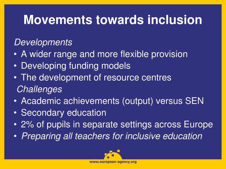 Movements towards inclusion