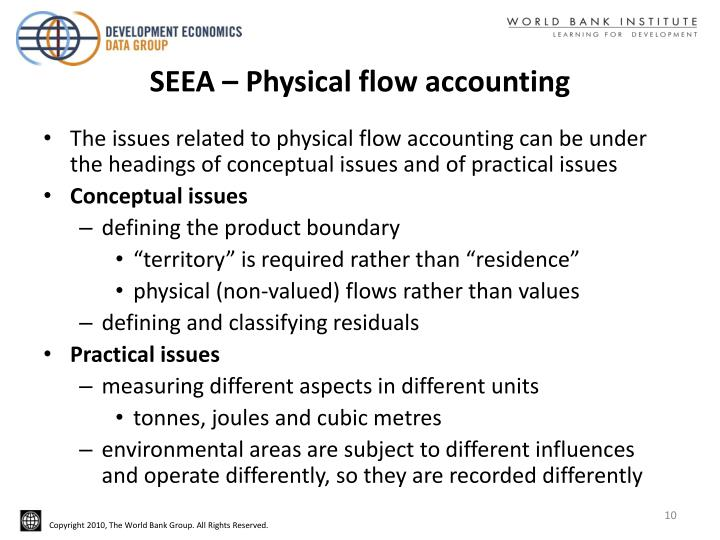 SEEA – Physical flow accounting