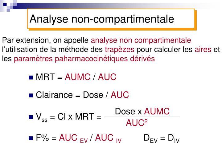 Analyse non-compartimentale