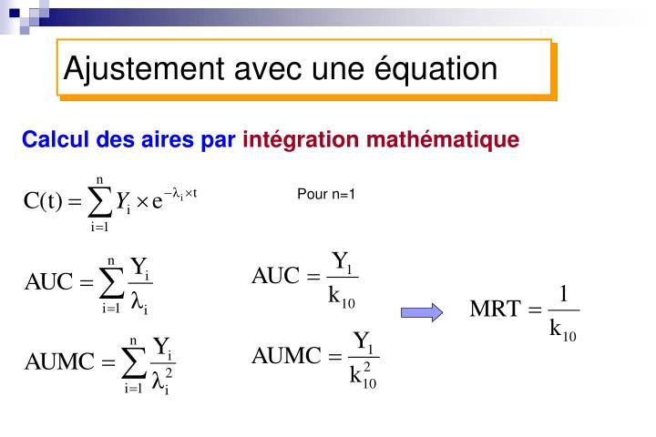 Ajustement avec une équation