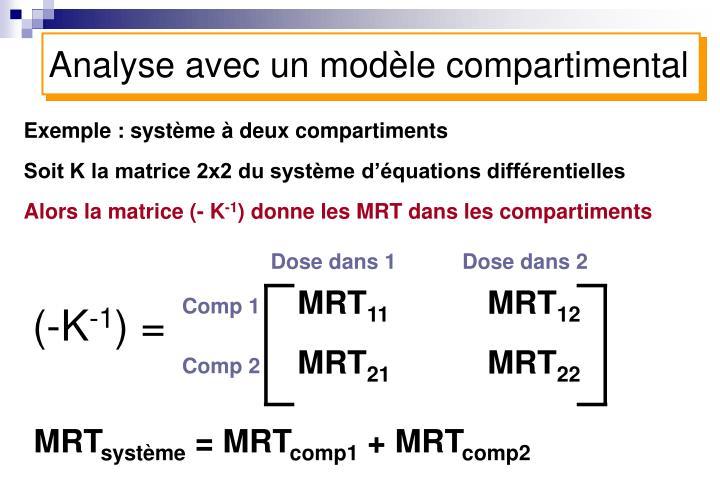 Analyse avec un modèle compartimental