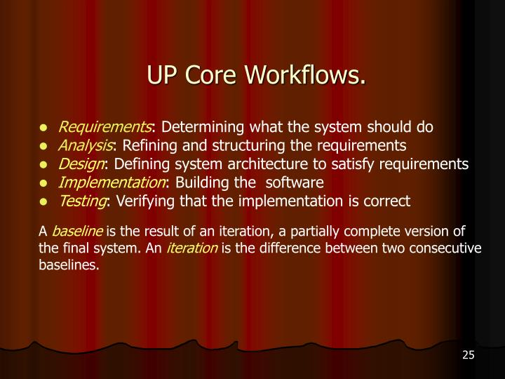 UP Core Workflows.