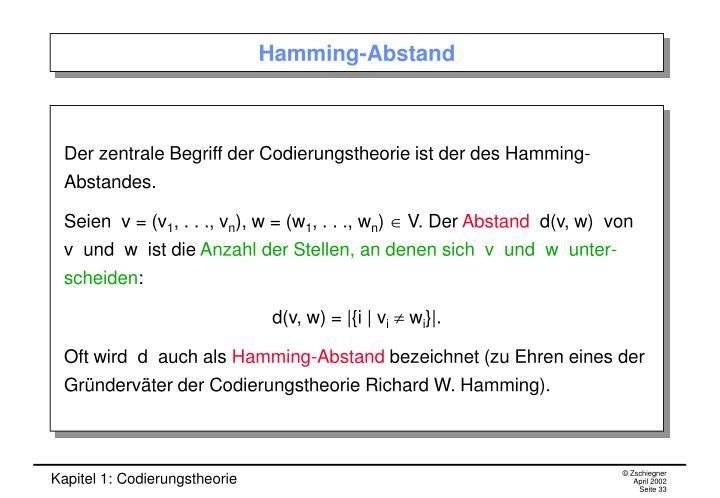 Hamming-Abstand