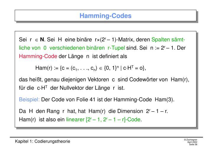 Hamming-Codes