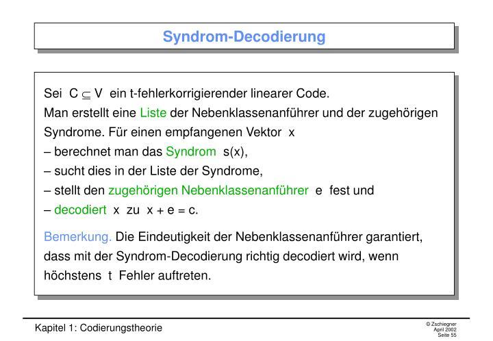 Syndrom-Decodierung