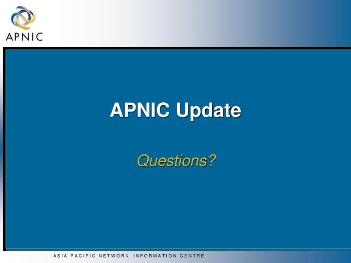 APNIC Update