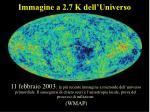 immagine a 2 7 k dell universo