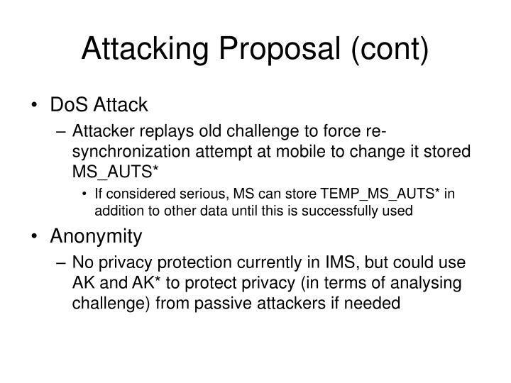 Attacking Proposal (cont)