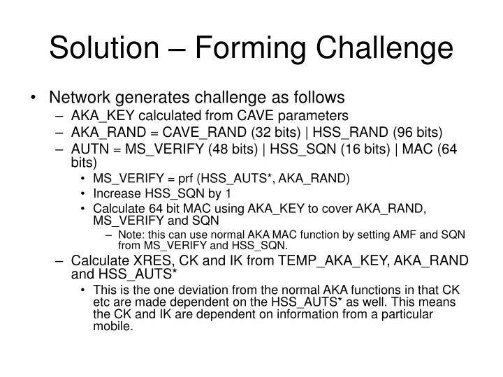 Solution – Forming Challenge