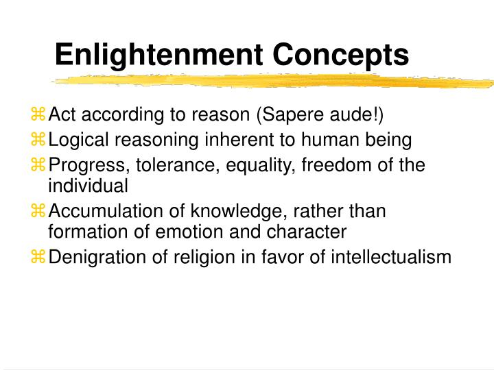 Enlightenment Concepts