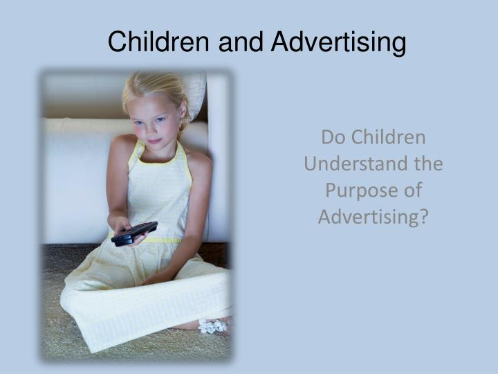 children and advertising n.