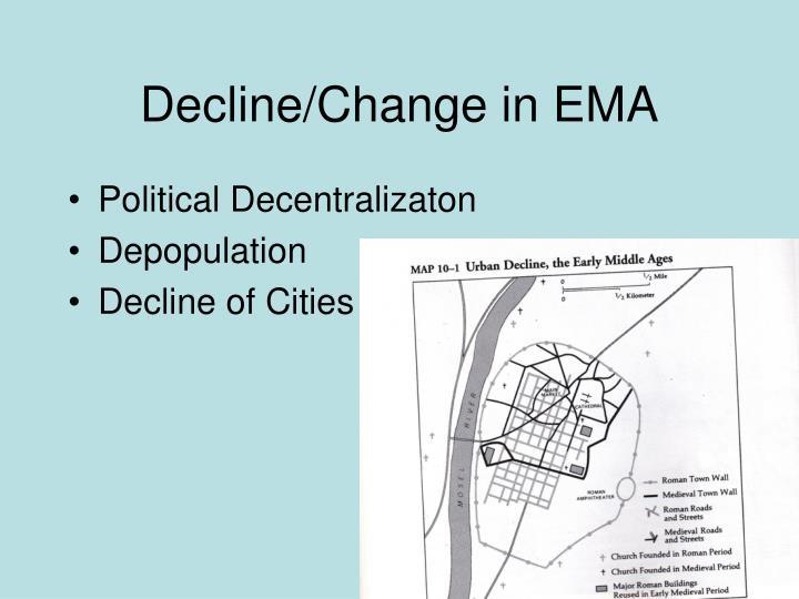 Decline/Change in EMA