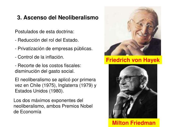 3. Ascenso del Neoliberalismo