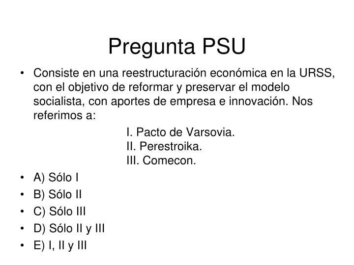 Pregunta PSU
