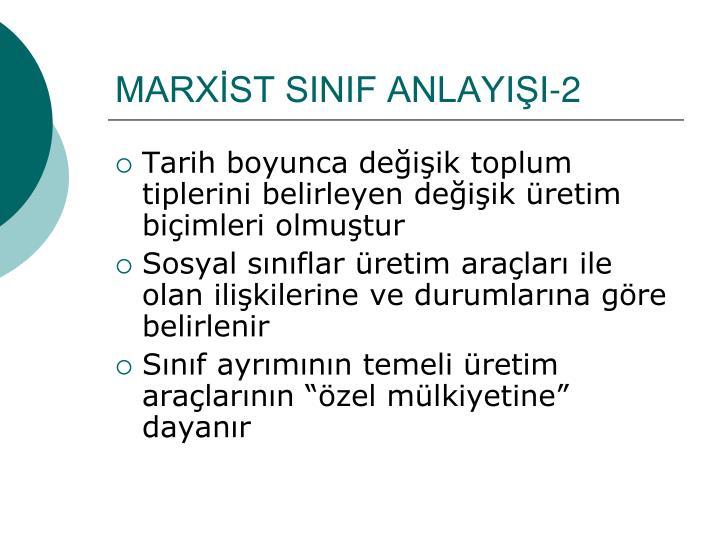 MARXİST SINIF ANLAYIŞI-2