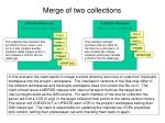 merge of two collections