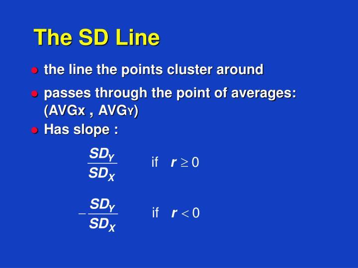 The sd line
