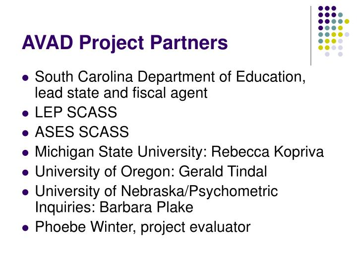 AVAD Project Partners