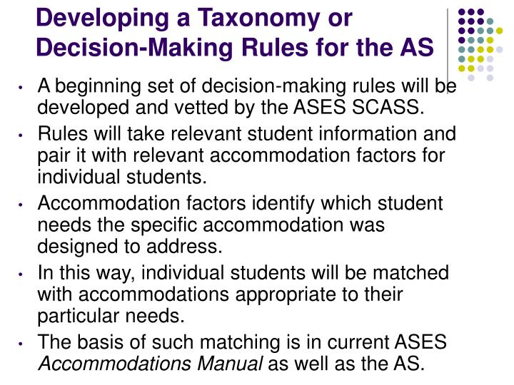Developing a Taxonomy or