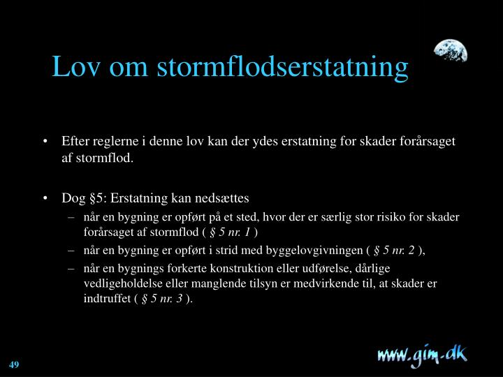 Lov om stormflodserstatning