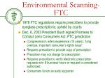 environmental scanning ftc