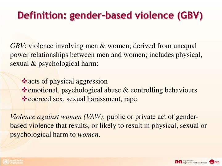 approaches to eliminating gender based violence sociology essay Promoting gender equality to prevent violence against women 1 overview promoting gender equality is a critical part of violence prevention the relationship between gender and violence is complex.