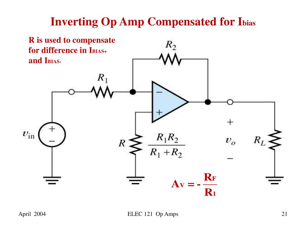 PPT - Introduction to Op Amp Circuits PowerPoint