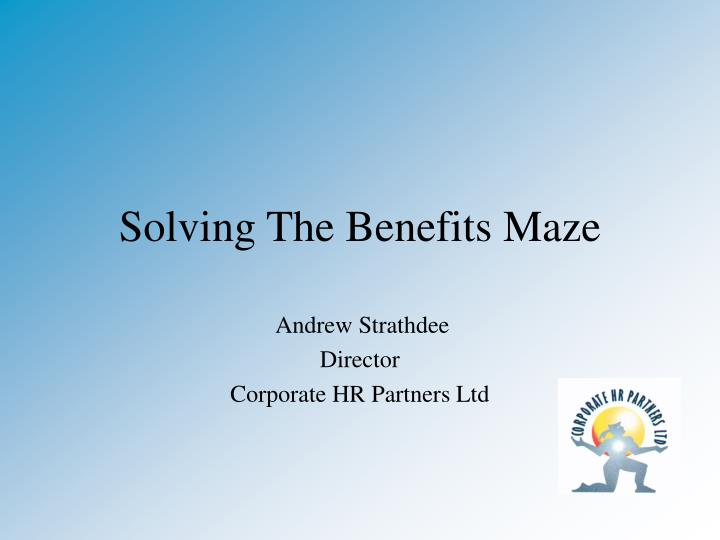 solving the benefits maze n.