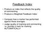 feedback index
