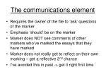 the communications element