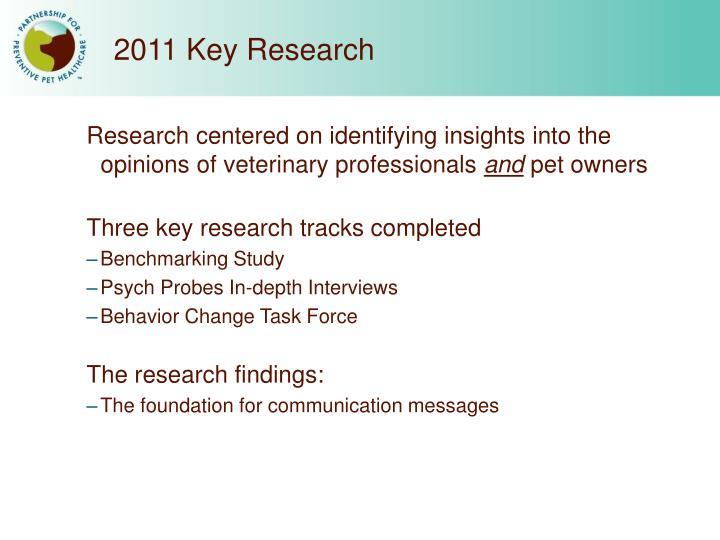 2011 Key Research