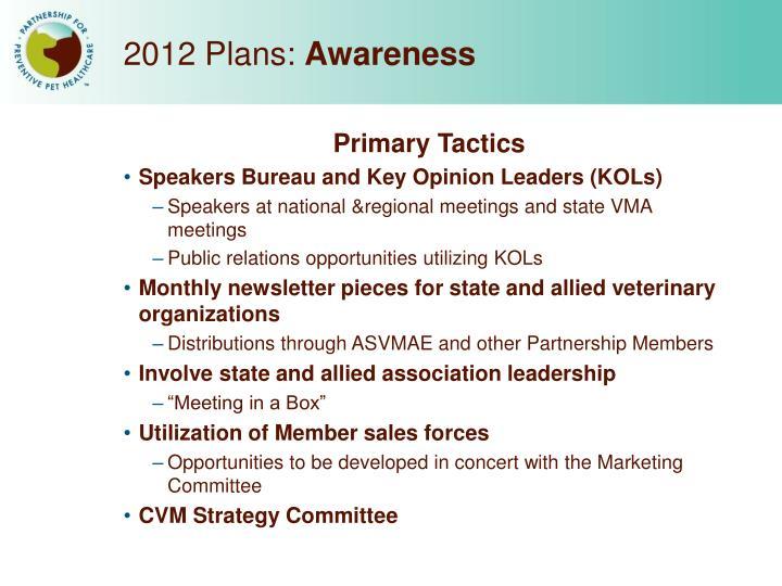 2012 Plans: