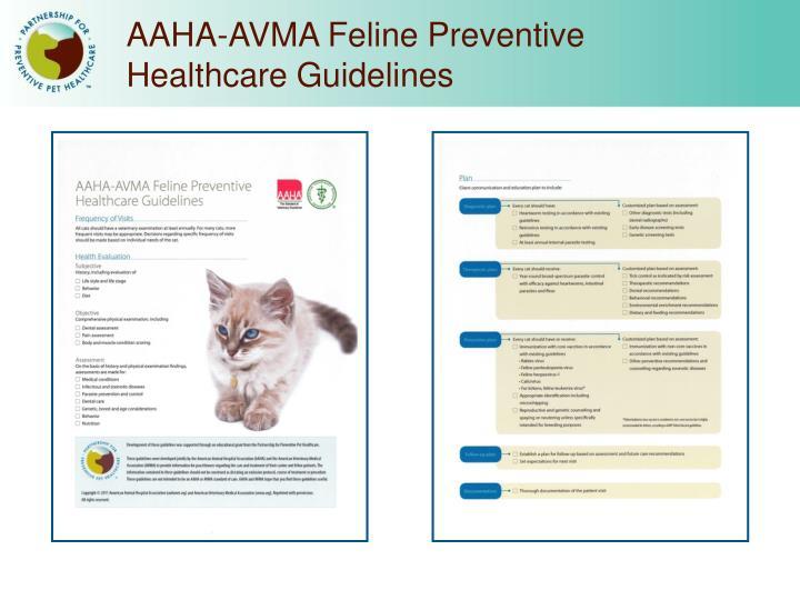 AAHA-AVMA Feline Preventive