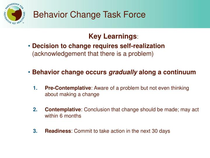 Behavior Change Task Force