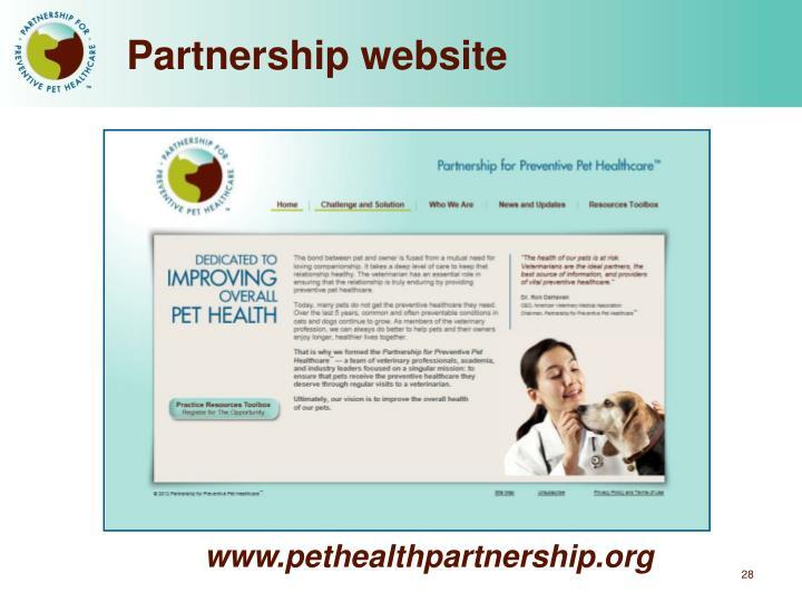 Partnership website