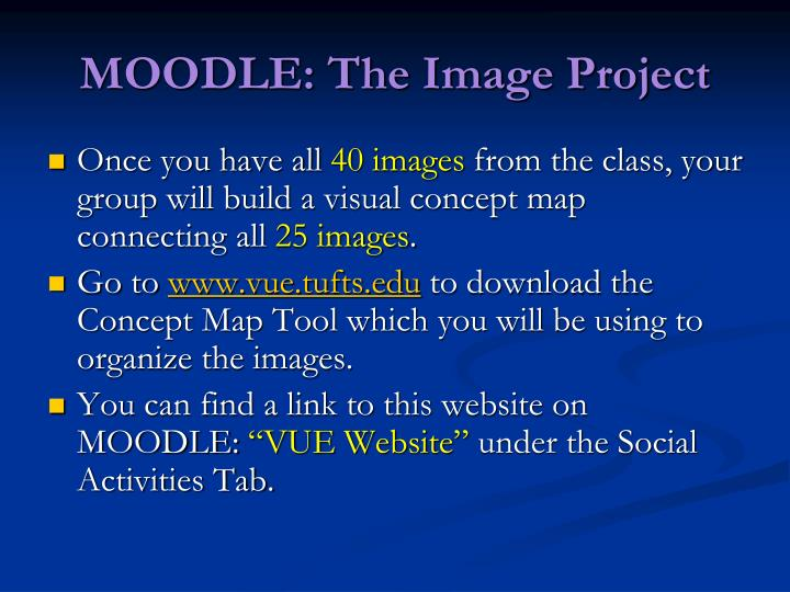 Moodle the image project