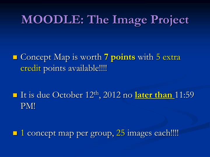 MOODLE: The Image Project