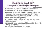 profiling for local bcp managers avps project managers1