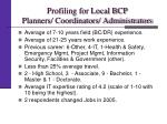 profiling for local bcp planners coordinators administrators1