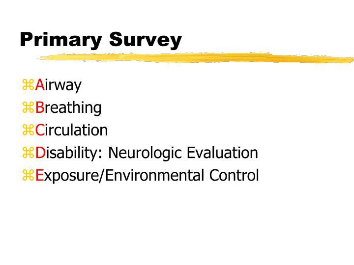 Primary Survey