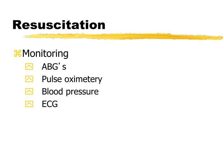 Resuscitation