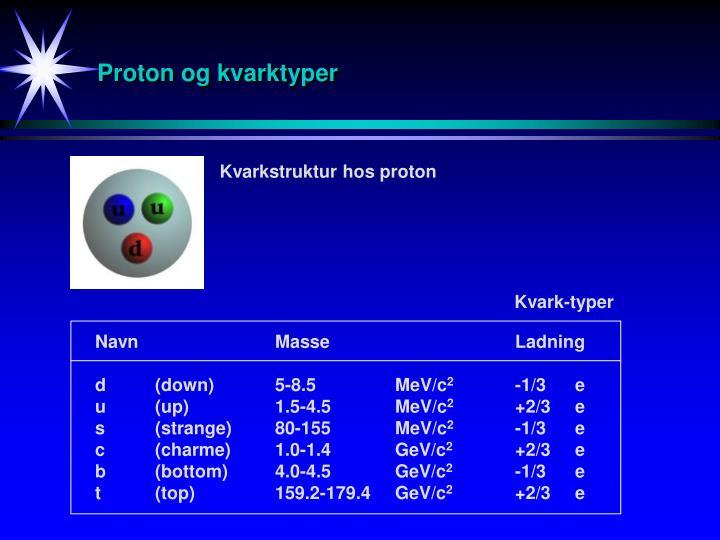 Proton og kvarktyper