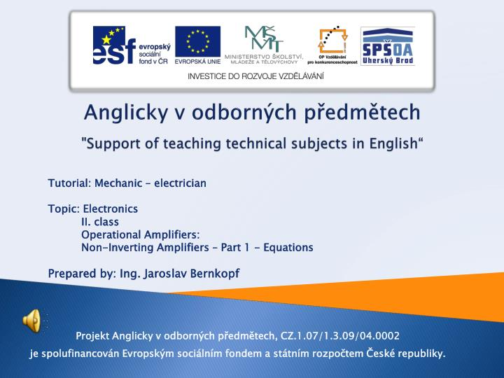 anglicky v odborn ch p edm tech support of teaching technical subjects in english