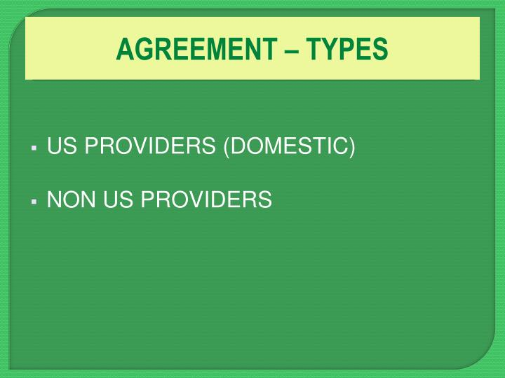 AGREEMENT – TYPES