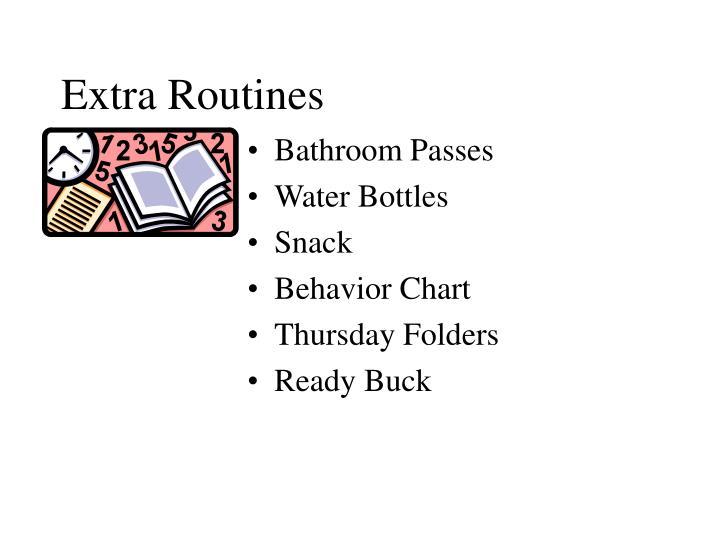 Extra Routines