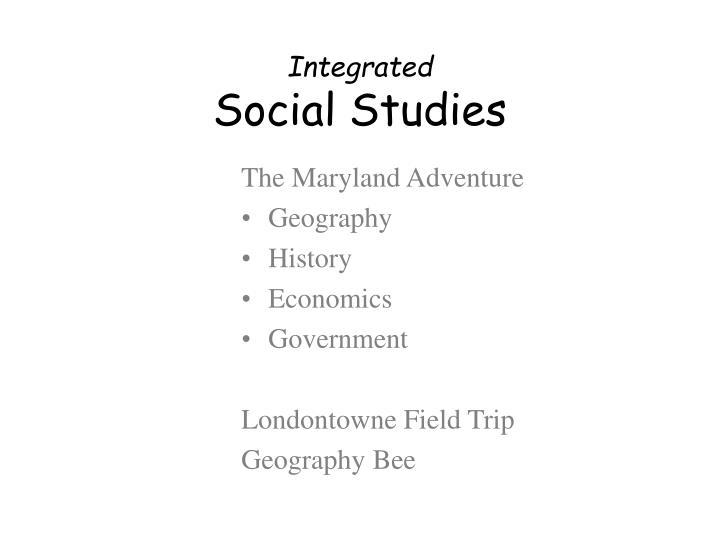 The Maryland Adventure