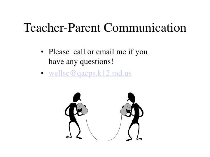 Teacher-Parent Communication